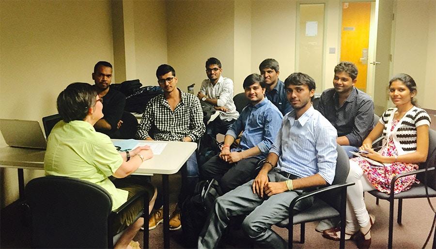 MBA students class with Dr. Petya Nikolova
