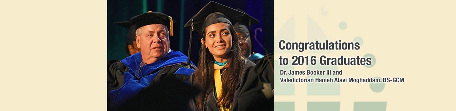 2016 Potomac Graduates, Valedictorian