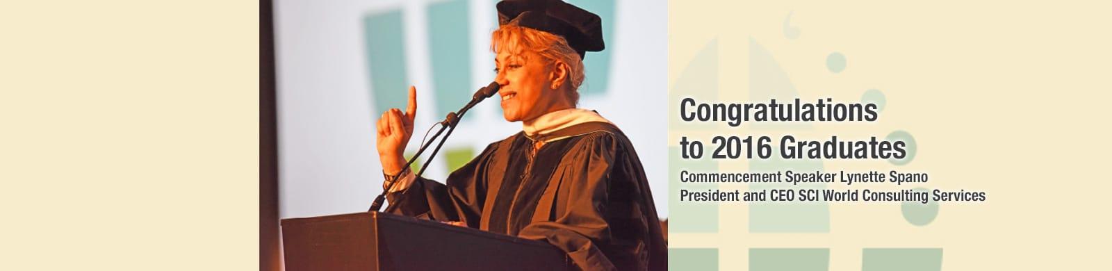 Potomac University Graduation Speaker - Speaker Lynette Spano