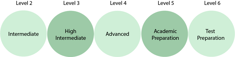 Levels of ESL courses